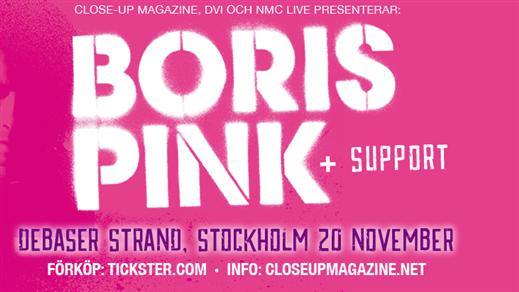 Bild för Boris, 2016-11-20, Debaser Strand