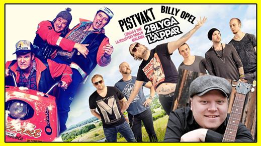 Bild för Pistvakt, 2 Blyga Läppar & Billy Opel i Parken, 2018-06-09, Liljeqvistska Parken