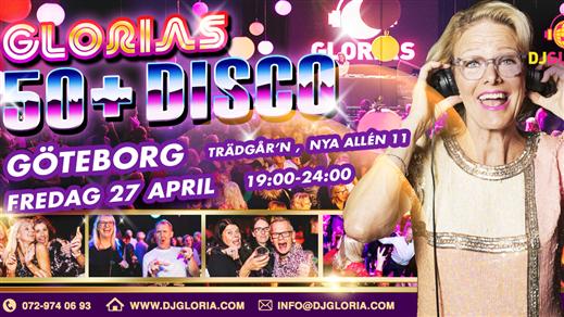 Bild för Glorias 50+ DISCO GÖTEBORG 27 apr 2018, 2018-04-27, Trädgår'n Nattklubb