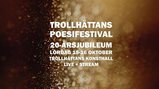 Bild för Trollhättan poesifestival 15-16/10, 2021-10-15, Konsthallen Trollhättan