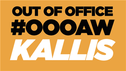 Bild för Out of Office 28 Juli, 2017-07-28, Kallis