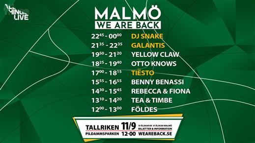 Bild för WE ARE BACK Malmö!, 2021-09-11, Tallriken
