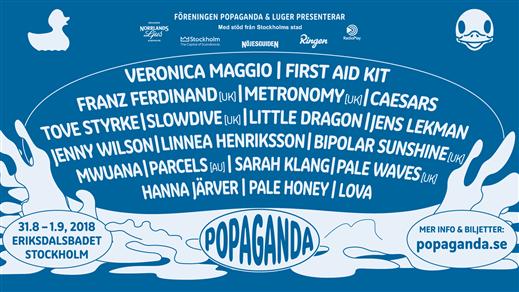 Bild för Popaganda 2018, 2018-08-31, Eriksdalsbadet