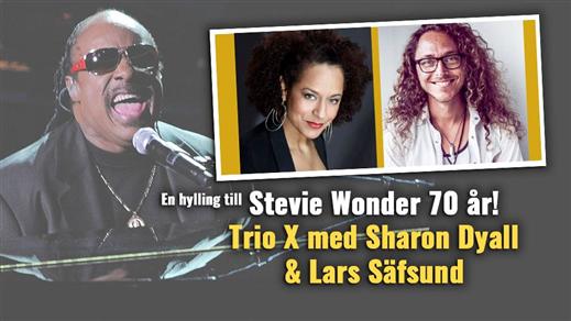 Bild för Stevie Wonder 70 år - Trio X med Sharon Dyall mfl, 2020-03-20, Centrum för Idrott och Kultur