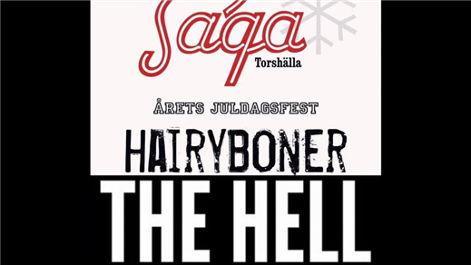 Bild för Hairy Boner & The Hell, 2020-12-25, Saga Salongen Torshälla