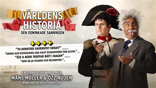 Bild för Özz Nûjen & Måns Möller - Världens Historia, 2020-02-15, Draken (M)