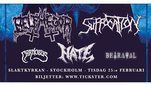 Bild för Suffocation / Belphegor / Hate - Slaktkyrkan STHLM, 2020-02-25, Slaktkyrkan