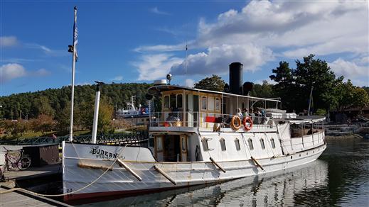 Bild för Strängnäs - Stallarholmen - Mälsåkers slott T/R, 2021-07-03, Båtresa med ångfartyget Ejdern till Mälsåkers slott