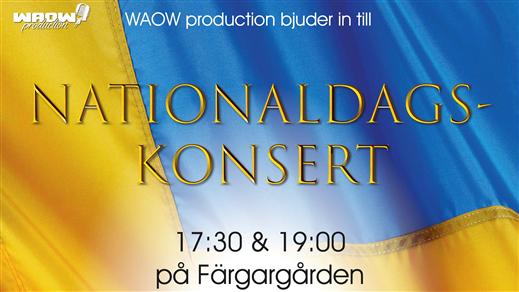 Bild för Nationaldagskonsert på Färgargården 17:30, 2021-06-06, Färgargården