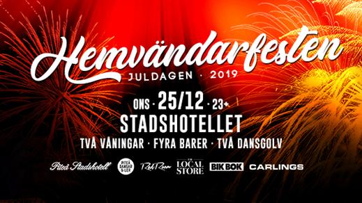 Bild för Hemvändarfesten Juldagen 2019, 2019-12-25, Piteå Stadshotell