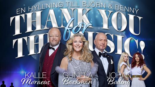 Bild för THANK YOU FOR THE MUSIC - En hyllning till B & B, 2019-11-14, Nordanåteatern