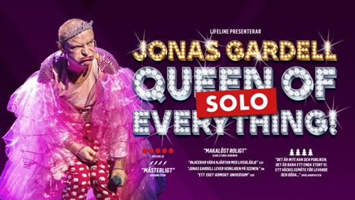 Bild för Jonas Gardell Queen of Everything, 2022-04-23, Konsertsalen Culturum