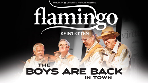 Bild för FLAMINGOKVINTETTEN - THE BOYS ARE BACK IN TOWN 7/4, 2018-04-07, Hebeteatern, Folkets Hus Kulturhuset