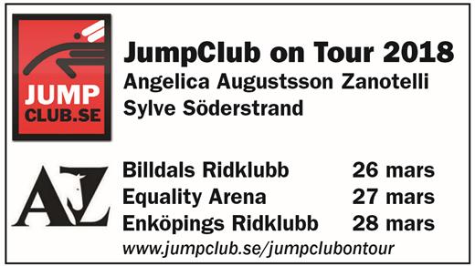 Bild för JumpClub on Tour med Angelica Augustsson Zanotelli, 2018-03-27, Equality Line Arena