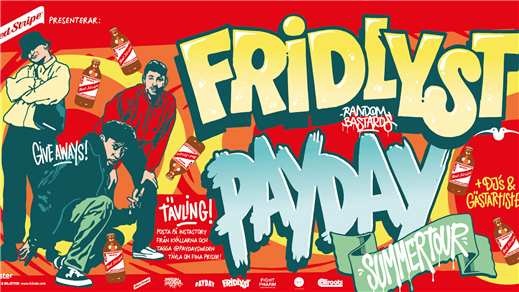 Bild för Red Stripe x Payday x Fridlyst Summertour |Uppsala, 2019-07-26, Interpool Uppsala