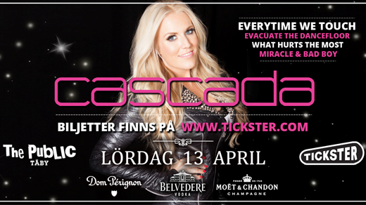 Bild för Cascada - The Public Täby - Lördag 13 April, 2019-04-13, The Public Club Täby