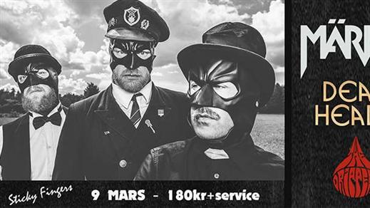 Bild för Märvel + Deadheads + The Drippers, 2019-03-09, Sticky Fingers