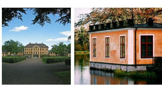 Bild för Guidning herrgård, avslutas med 1700-talsbibliotek, 2021-08-12, Stiftelsen Leufsta Herrgården