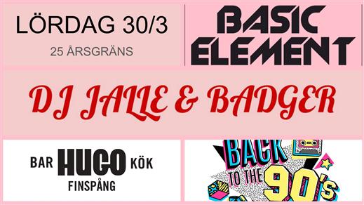 Bild för BASIC ELEMENT - Back to the 90's, 2019-03-30, Hugo Finspång