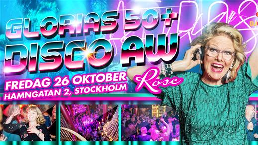 Bild för Glorias 50+ DISCO AW Stockholm 26 okt 2018, 2018-10-26, Rose Club