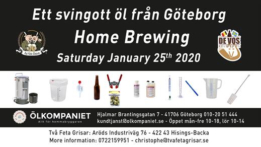 Bild för Home Brewing Course 25 January, 2020-01-25, Två Feta Grisar Bryggeri