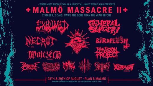 Bild för Malmö Massacre II // Plan B Malmö, 2021-08-27, Plan B - Malmö