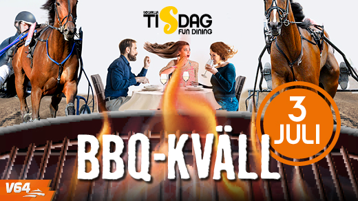 Bild för Solvallatisdag med BBQ 2018-07-03, 2018-07-03, Solvalla