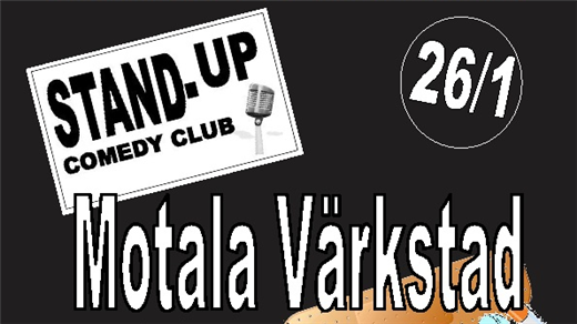 Bild för Motala Värkstad - Stand Up Comedy Club, 2017-01-26, Café Bar  Kök Sjöbris