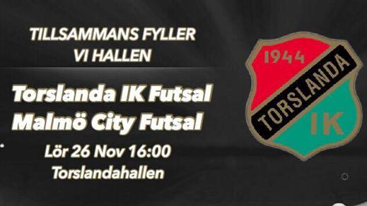 Bild för Torslanda IK Futsal - Malmö City Futsal, 2016-11-26, Torslandahallen