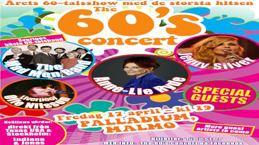 Bild för The 60s concert med bl.a Anne-Lie Ryde, 2020-04-17, Palladium Malmö