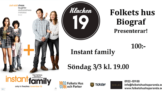 Bild för Instant Family, 2019-03-03, Biosalongen Folkets Hus