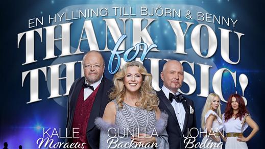 Bild för THANK YOU FOR THE MUSIC - En hyllning till B & B, 2020-07-29, Gropen i Leksand