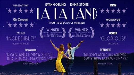 Bild för La La Land (Barntillåten) Premiär, 2017-01-27, Biosalongen Folkets Hus