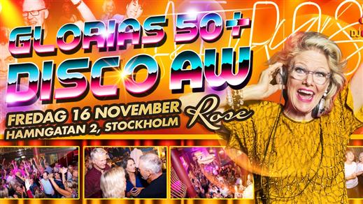Bild för Glorias 50+ DISCO AW Stockholm 16 nov 2018, 2018-11-16, Rose Club