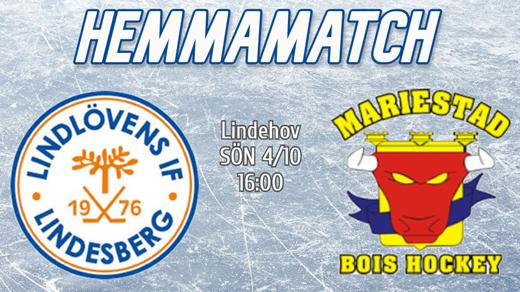 Bild för Lindlöven vs. Mariestad BOIS, 2020-10-04, Lindehov