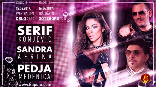 Bild för Serif, Sandra & Pedja - Oslo, 2017-04-15, Eventhallen