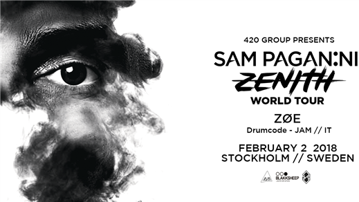 Bild för Sam Paganini - Zenith World Tour - Stockholm, 2018-02-02, Slaktkyrkan