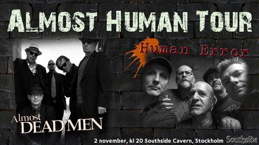 Bild för Almost Dead Men + Human Error, 2019-11-02, The Southside Cavern, Pub Southside