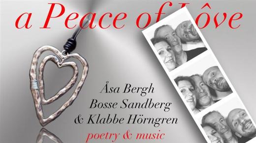 Bild för A peace of lôve - Poetry & Music, 2017-11-09, Teaterbiografen Nora