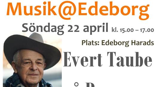 Bild för Par om Par spelar Evert Taube, 2018-04-22, Edeborg, Harads bygdegård