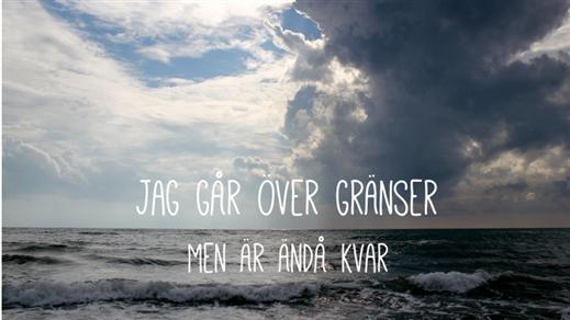 """Bild för """"Livet i två bitar"""" & """"Jag går över gränser ..."""", 2016-11-02, Landskrona Teater"""