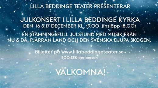 Bild för Julkonsert i Lilla Beddinge kyrka, 2019-12-17, Lilla Beddinge kyrka