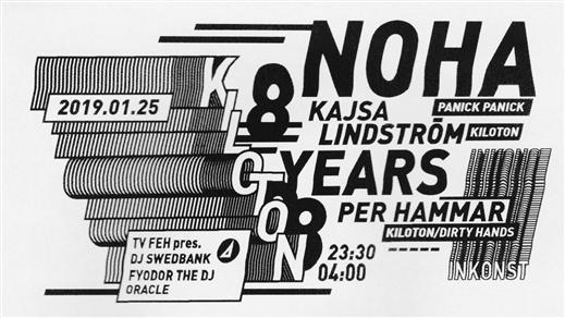 Bild för Kiloton 8 Years w/ Noha & TV.FEH, 2019-01-25, Inkonst